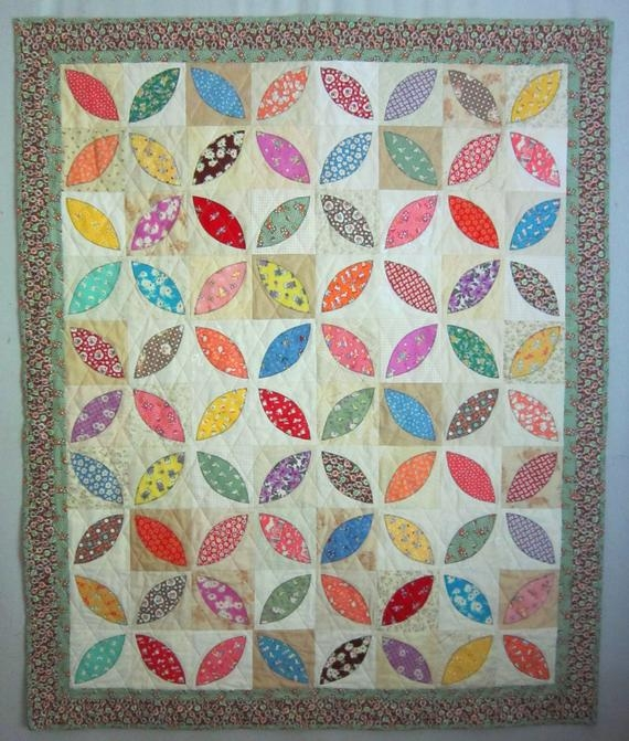 orange peel vintage quilt pattern from quilts elena wall hanging table runner Elegant Orange Peel Quilt Pattern