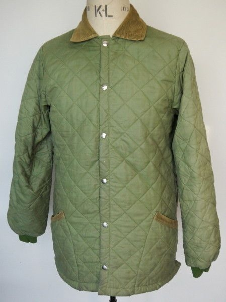 original 1960s husky quilted jacket with corduroy collar Cool Barbour Vintage Quilted Jacket With Cord Collar And Trims