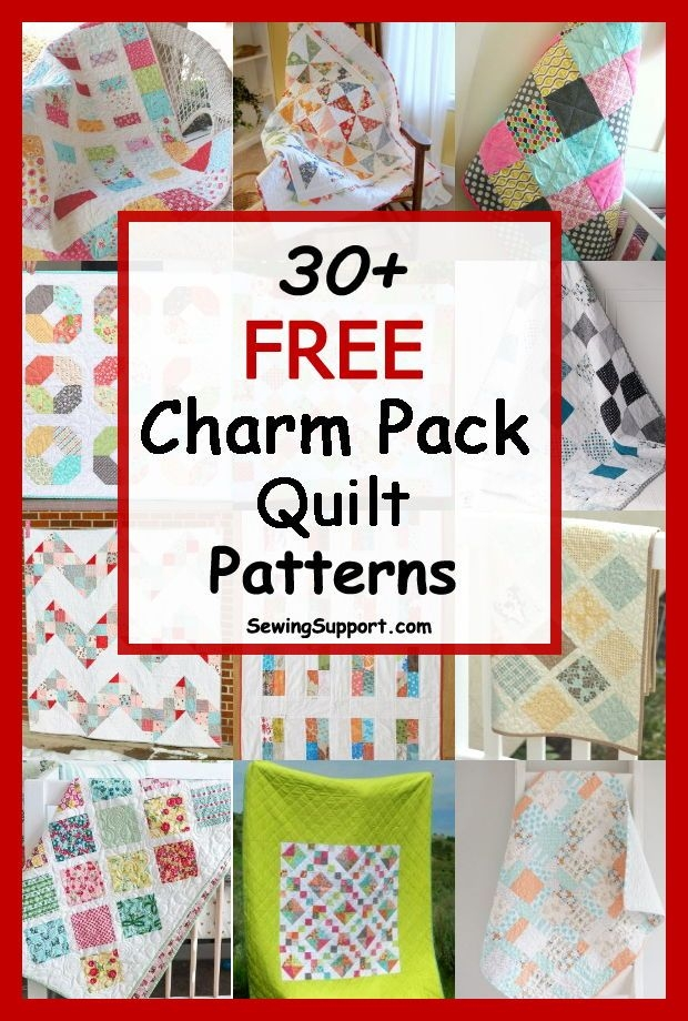 over 30 free quilt patterns tutorials using charm packs 5 Quilt Patterns Using Charm Packs Gallery