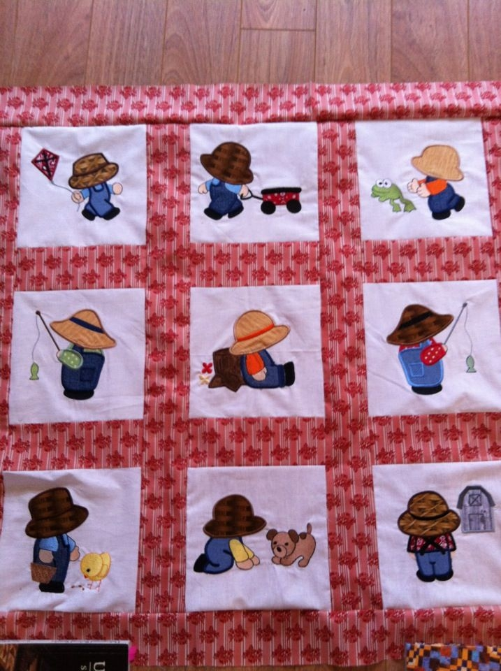 overall sam quilting ba quilts ba boy quilt Overall Sam Quilt Block