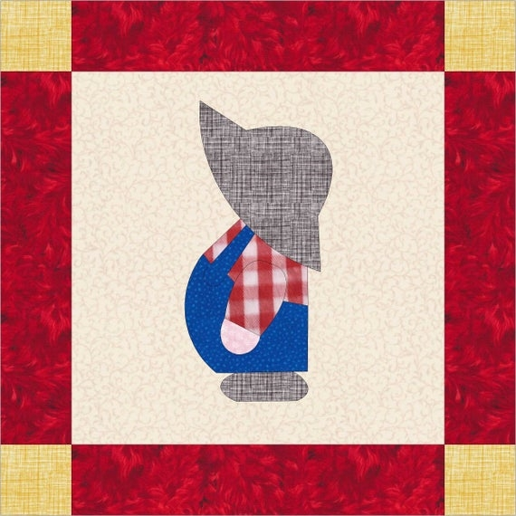 overall sam template pattern Overall Sam Quilt Block