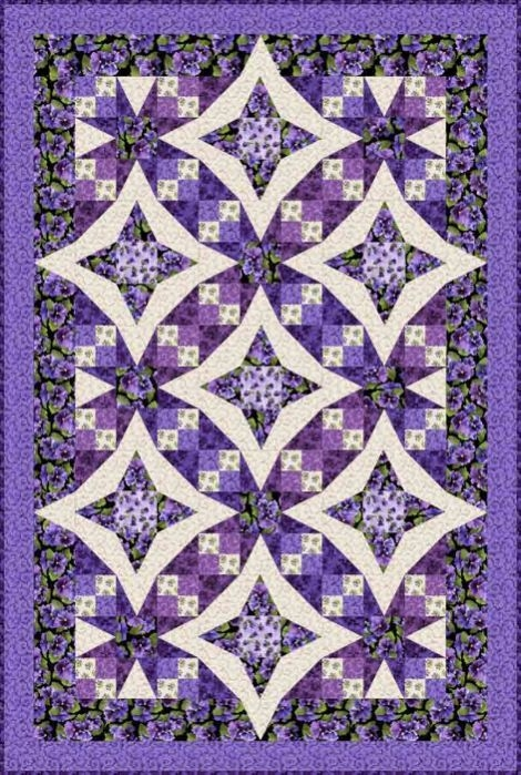 pansies in paradise quilt kit designed debbie beaves Cool Debbie Beaves Quilt Patterns Inspirations