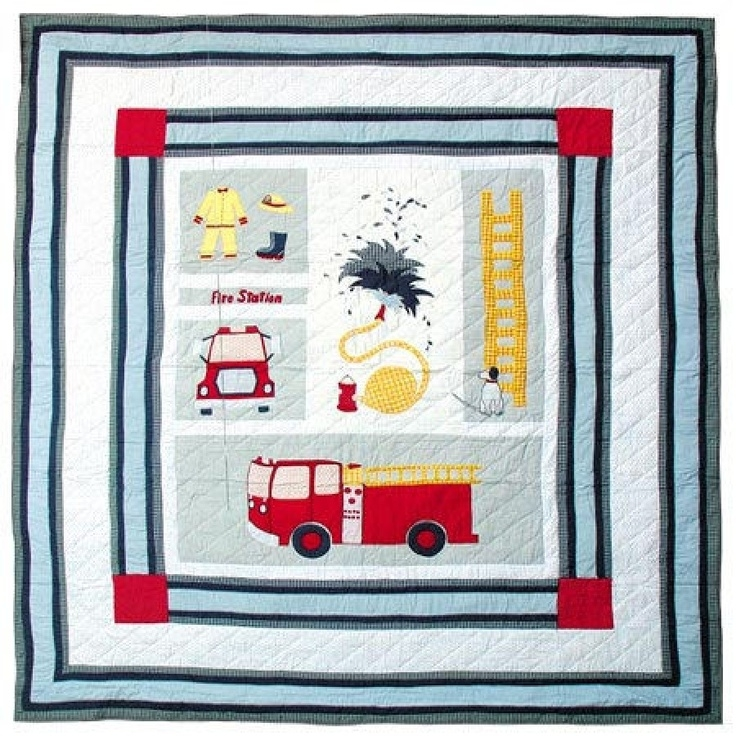 patch magic fire truck quilt qfrtr quilt trucks and red Stylish Fire Truck Quilt Pattern Inspirations