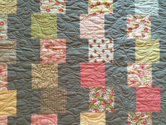 pdf building blocks quilt pattern charm pack pattern Modern Building Blocks Quilt Pattern