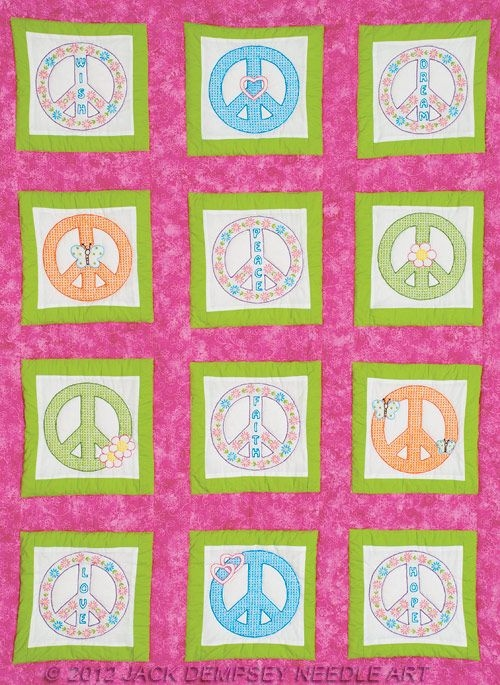 peace signs 9 white theme quilt blocks jolina quilt Peace Sign Quilt Pattern Inspirations