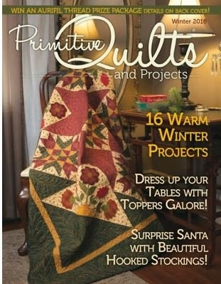 pheasant collage pattern in primitive quilts magazine winter Cozy The Quilt Pattern Magazine