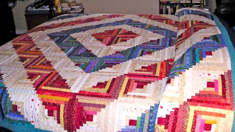 photo gallery and layout tips for log cabin quilts Stylish Pattern For Log Cabin Quilt Gallery