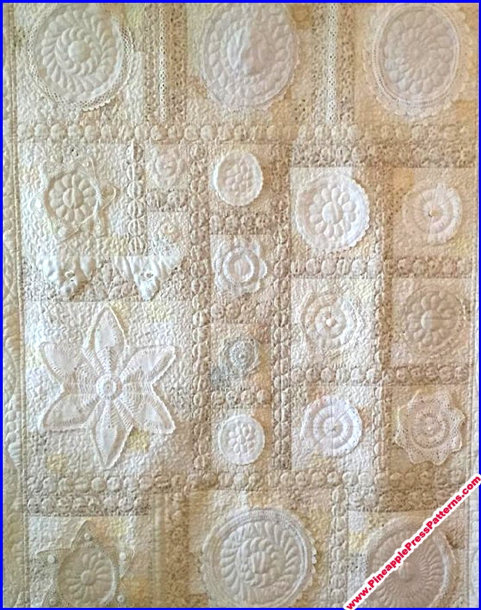 pineapple press patterns our patterns expanded view Interesting Vintage Doily Quilt Gallery