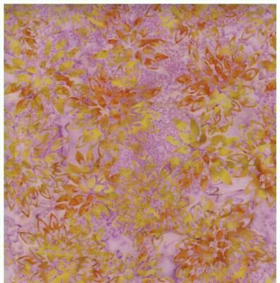 pink orange yellow gold pastel floral batik 2 quilt quilting fabric the yard ebay Elegant Lovely Quilting Fabric By The Bolt Inspirations