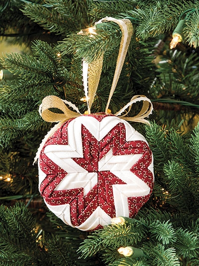 pinwheel quilted christmas no sew ornament pattern booklet Stylish Quilted Ornament Pattern Gallery
