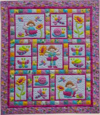 pixie girl kids quilts patchwork quilting Unique Quilt Patterns For Girls