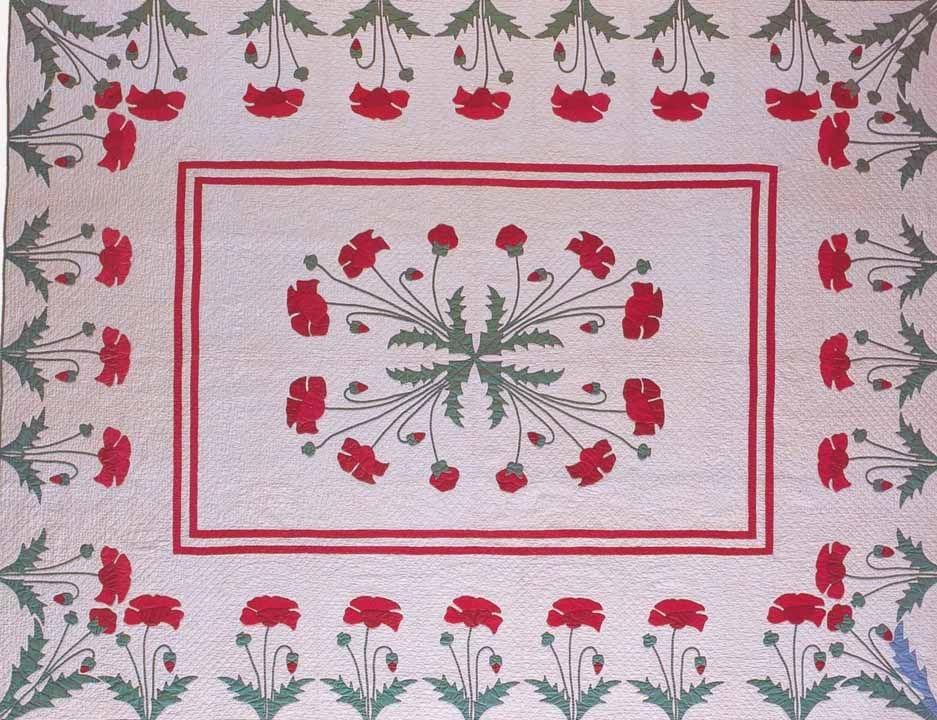 poppy quilt 1915 marie webster pattern minnesota Cool Vintage Poppy Quilt Pattern