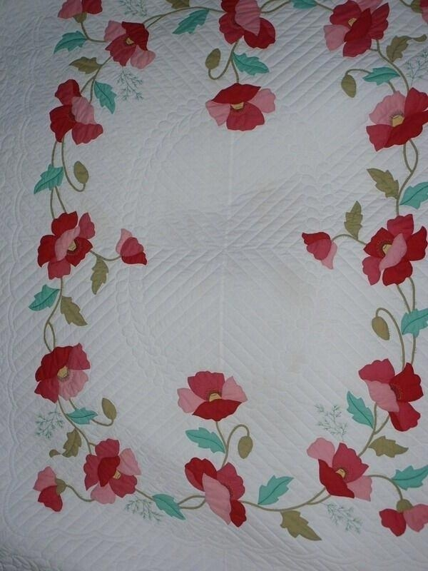 poppy quilt astrosinastriaco Cool Vintage Poppy Quilt Pattern