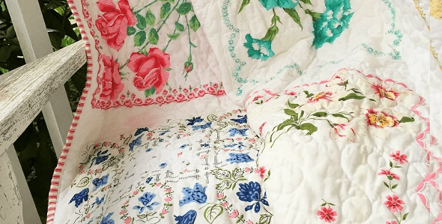 preserve vintage hankies in a beautiful quilt quilting digest Unique Vintage Hankie Quilt