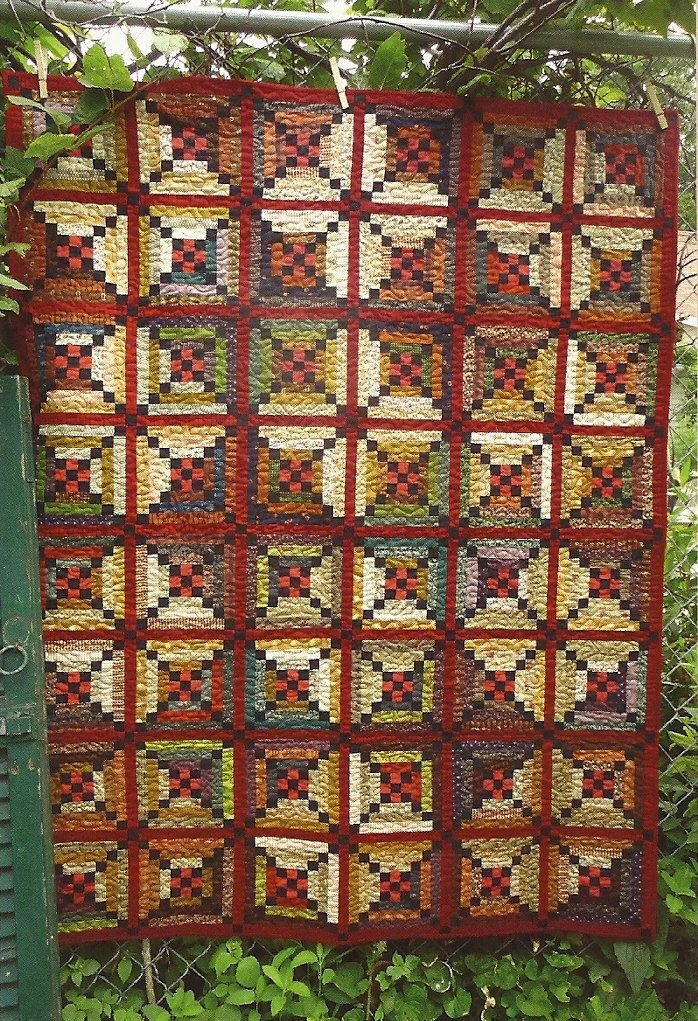 primitive folk art wall quilt pattern river town 885 Cool Primitive Quilting Patterns Inspirations