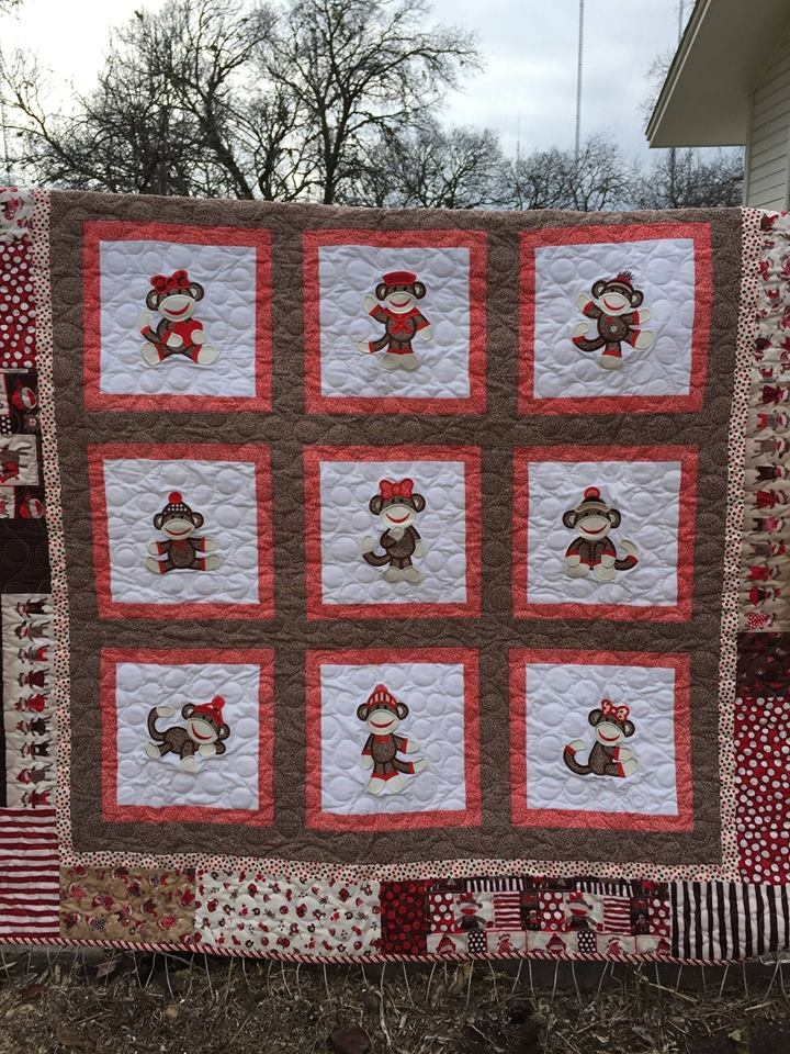project inspiration sock monkey quilts designs juju Unique Sock Monkey Quilt Pattern Inspirations