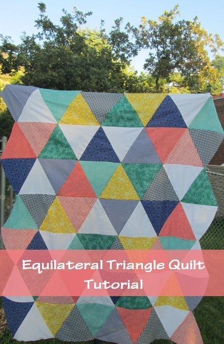 quackadoodle quilt equilateral triangle quilt tutorial Cozy Easy Triangle Quilt
