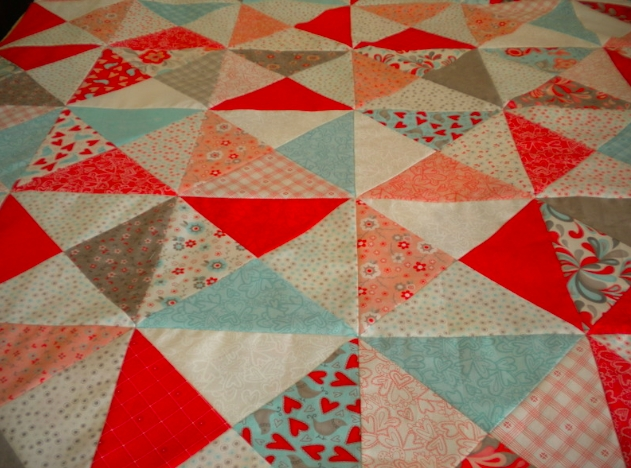 quarter square triangles a basic block with big impact Cool Quarter Square Triangle Quilt Gallery
