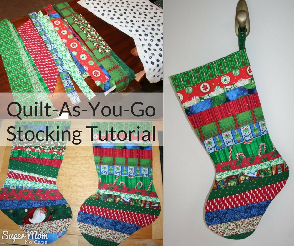 quilt as you go christmas stocking tutorial part one Modern Quilted Stocking Patterns Gallery