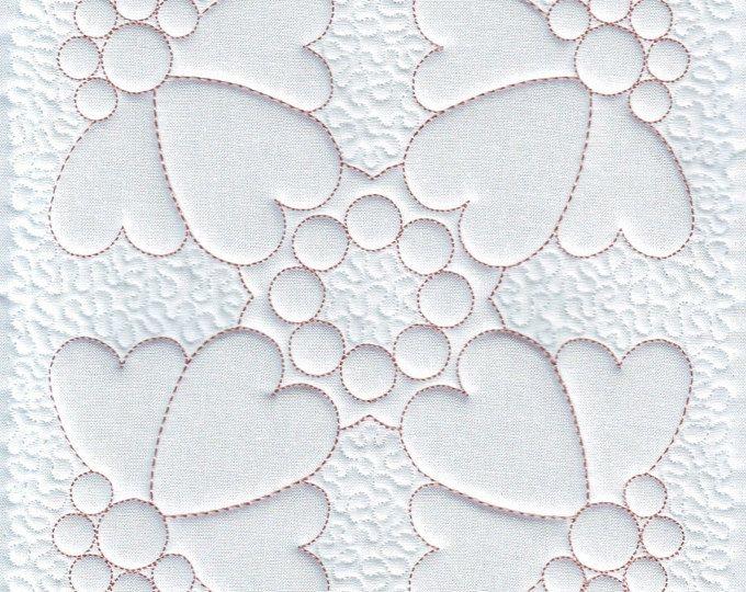 quilt blocks quilting trapunto hearts and swirls machine Trapunto Quilting Patterns Inspirations