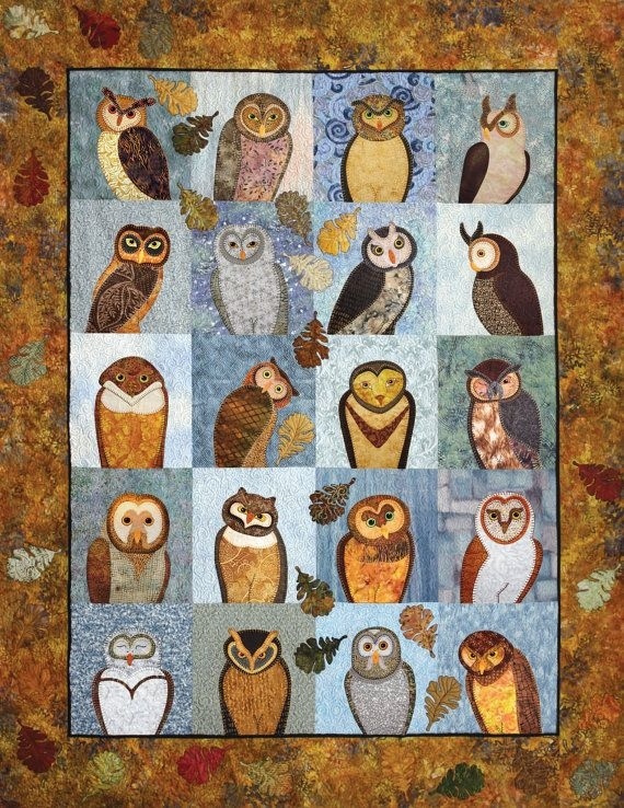 quilt book outstanding owls applique quilting pattern Cool Owl Applique Quilt Pattern Gallery