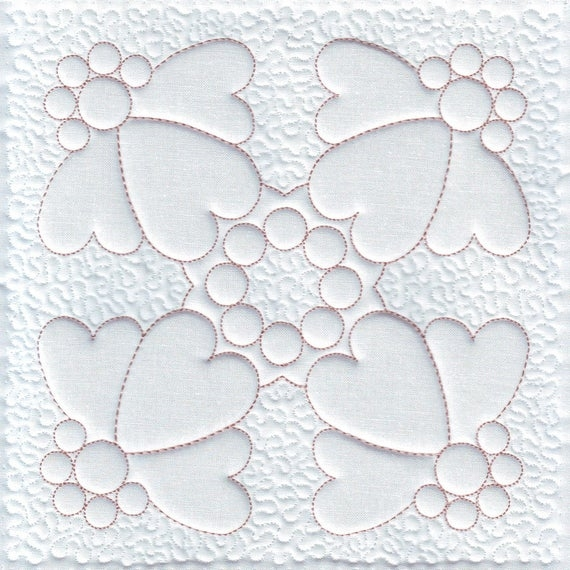quilt embroidery heart machine embroidery design trapunto quilting embroidery quilt pattern digital pattern instant download Trapunto Quilting Patterns Inspirations