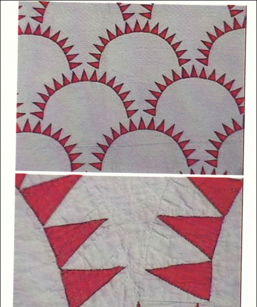 quilt history reports the clamshellpickle dish pattern Cool Pickled Clamshell Quilt Pattern Inspirations