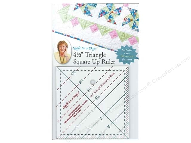 quilt in a day ruler 45 in triangle square up Modern Half Square Triangle Ruler Quilt In A Day