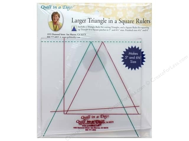 quilt in a day ruler larger triangle in a square Modern Half Square Triangle Ruler Quilt In A Day