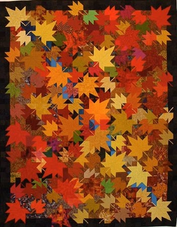 quilt inspiration autumn leaves quilts Cool Fall Leaves Quilt Pattern Gallery