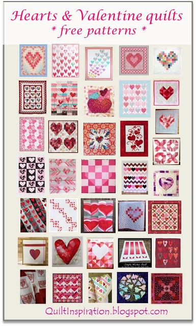 quilt inspiration free pattern day hearts and valentines Unique Applique Heart Quilt Patterns Inspirations