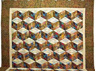 quilt inspiration tumbling blocks divided 4 or 9 Elegant Tumbling Block Quilt Pattern