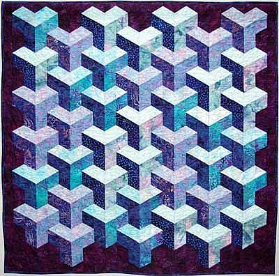 quilt inspiration tumbling blocks more illusions Elegant Tumbling Block Quilt Pattern