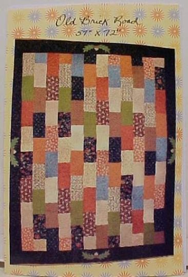quilt pattern old brick road 54 x 72 scrappy quilt Brick Road Quilt Pattern