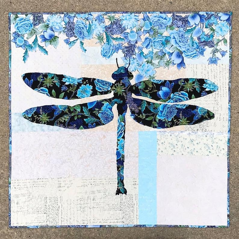 quilt patternsdragonfly quiltsdragonfly patternsquilted wall hangingpatternslily quilt patternfusible applique use both sides Interesting Dragonfly Quilt Patterns Gallery
