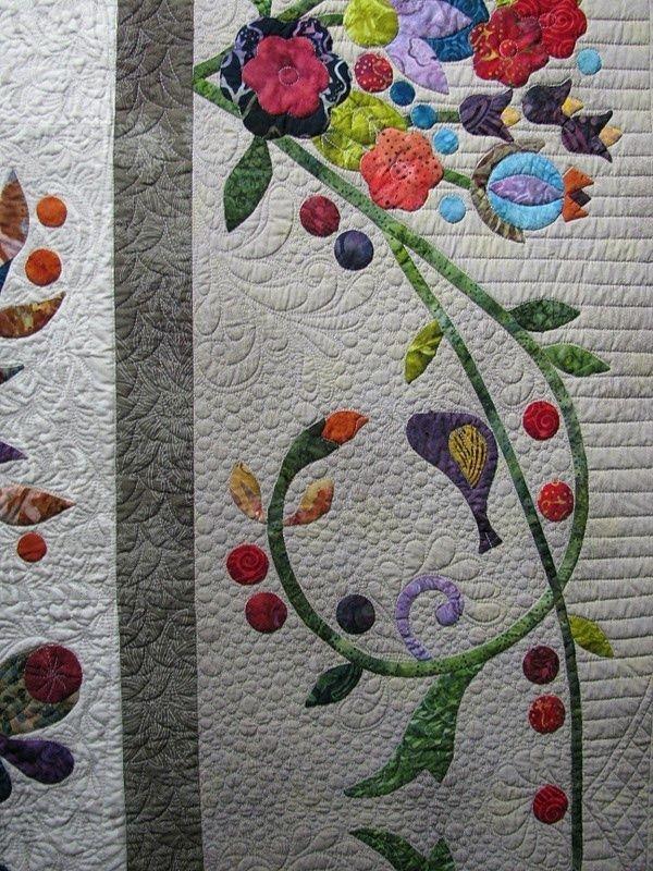 quiltappliquevines great applique border pattern is Modern Floral Applique Quilt Patterns Gallery