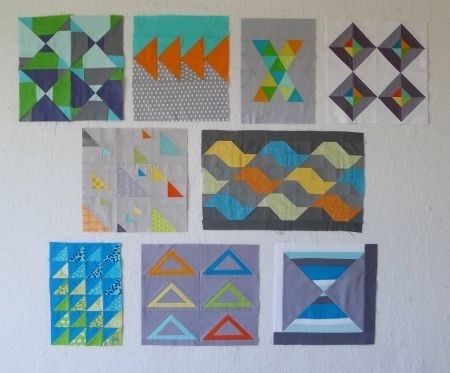 quiltcon blocks triangles from the modern quilt guild quilty Stylish Triangle Modern Quilt Guild