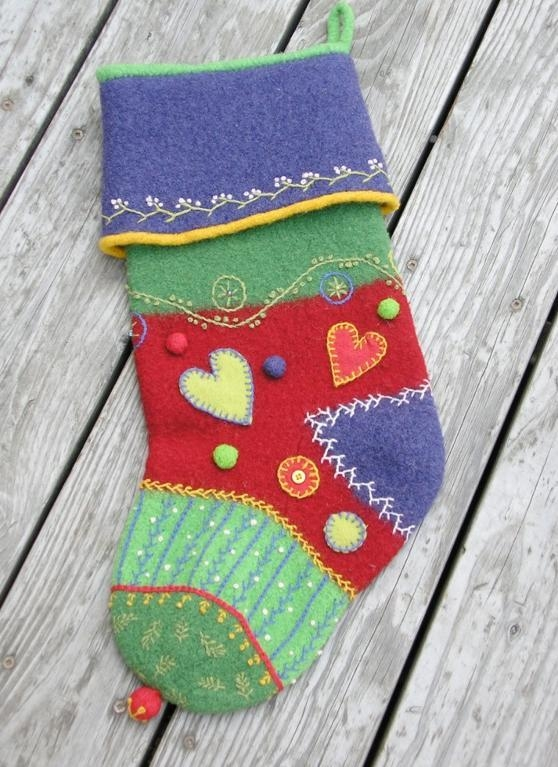 quilted christmas stocking patterns to stitch and stuff Modern Quilted Stocking Patterns Gallery