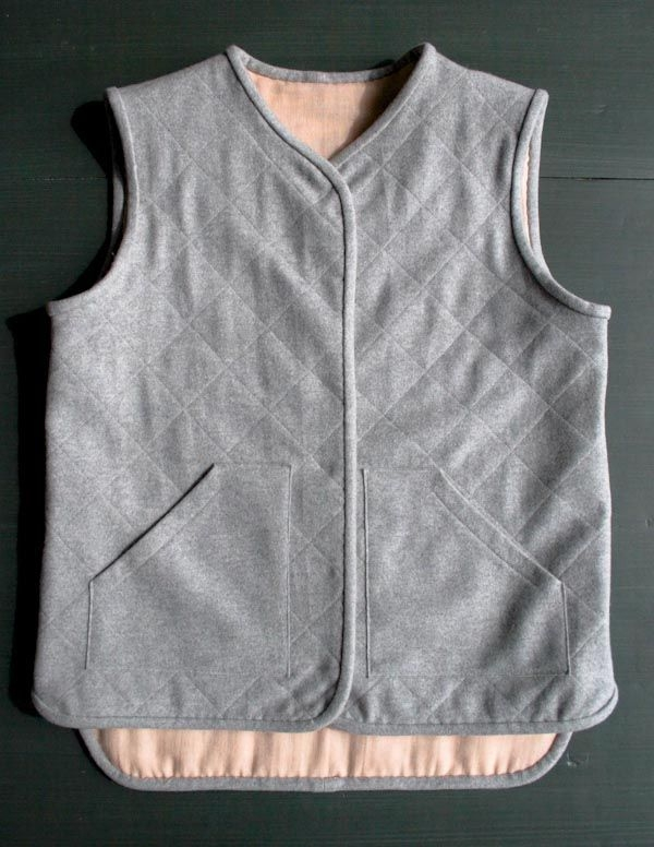 quilted wool vest tutorial with free pattern purl soho Cool Quilted Vest Sewing Pattern Inspirations