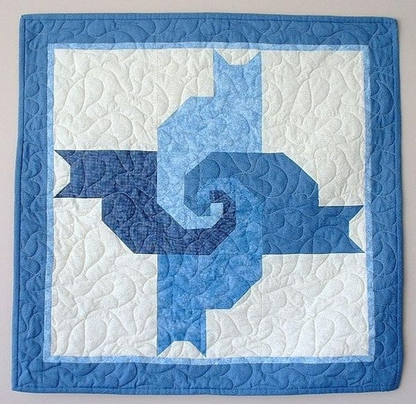 quilting board Cozy Twisted Tails Mystery Quilt Gallery