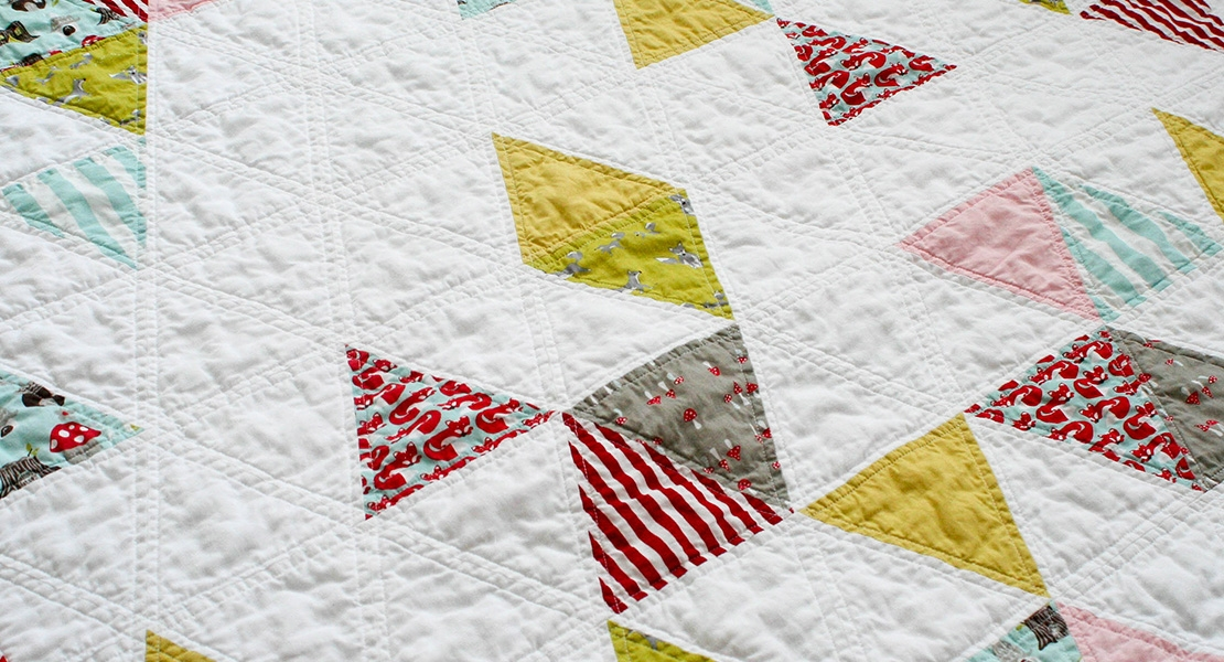 quilting with triangles part 1 cutting weallsew Cozy Equilateral Triangle Quilt Gallery