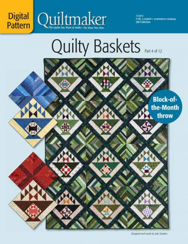 quilty baskets block of the month quilt pattern download part 1 Cool Block Of The Month Quilt Patterns