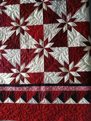 red and white hunter star quilt quilts for all hunters Cool Red And White Quilt Patterns