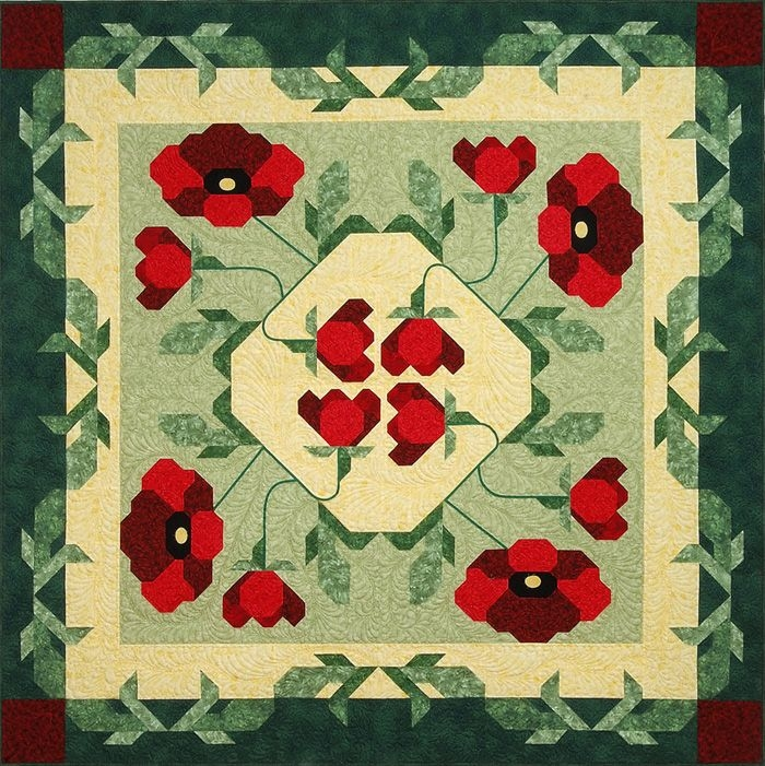 remembrance poppy quilt ideas flower quilts charm Cool Vintage Poppy Quilt Pattern