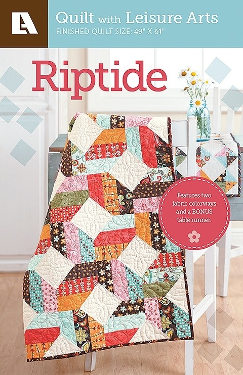 riptide quilt patterns featuring 2 colorways and a bonus table runner pattern pack Unique Arts And Crafts Quilt Patterns Inspirations