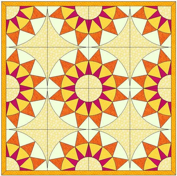 rising sun quilt paper templates quilting block pattern Unique Rising Sun Quilt Pattern Gallery