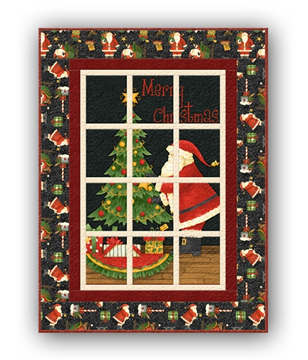 santas big night window quilt kit debbie mumm Interesting Debbie Mumm Quilt Patterns Inspirations
