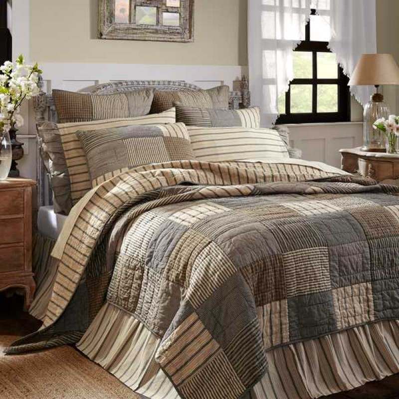sawyer mill bedding charcoal california king quilt set Vintage King Size Quilts Inspirations