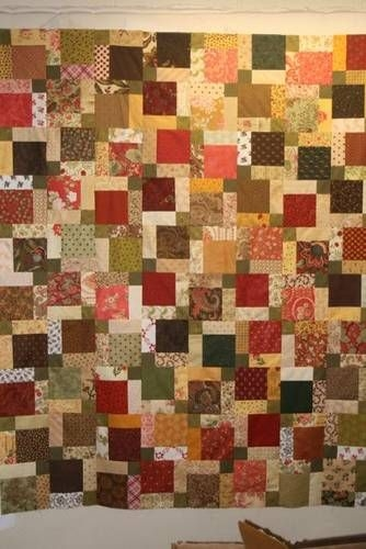scrappy disappearing nine patch quilting quilts quilts Modern Scrappy Disappearing 9 Patch Quilt