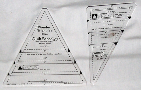 set of 2 wonder triangles quilt sense 8 sizes marti michell Cozy Quilt Sense Wonder Triangles Inspirations